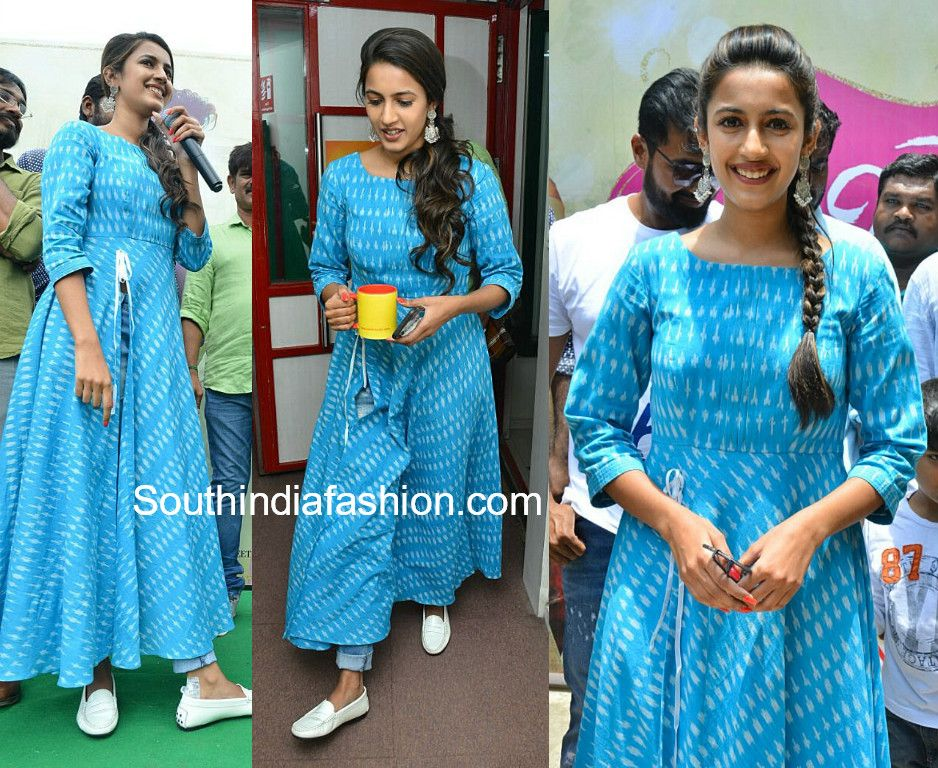 niharika konidela blue ikat slit kurta Everyday fashion