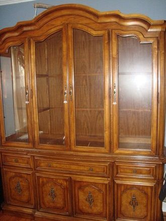 Before and After Boring China Cabinet to Fabulous Bookcase China