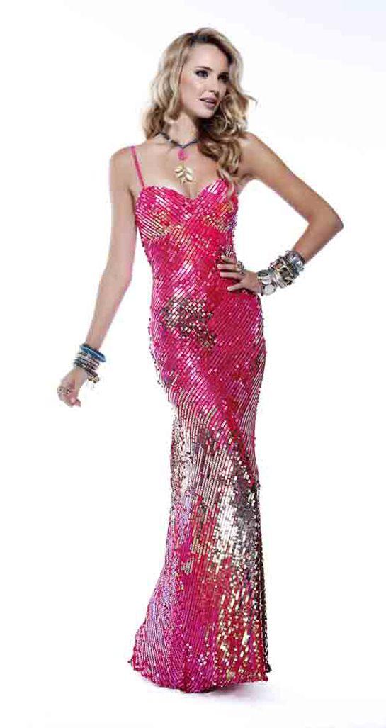 Pink Sequin Scala Prom Dress 4119 | Vestidos fiestas, Vestidos de ...