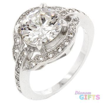 Antique Style Engagement Ring (size: 06)