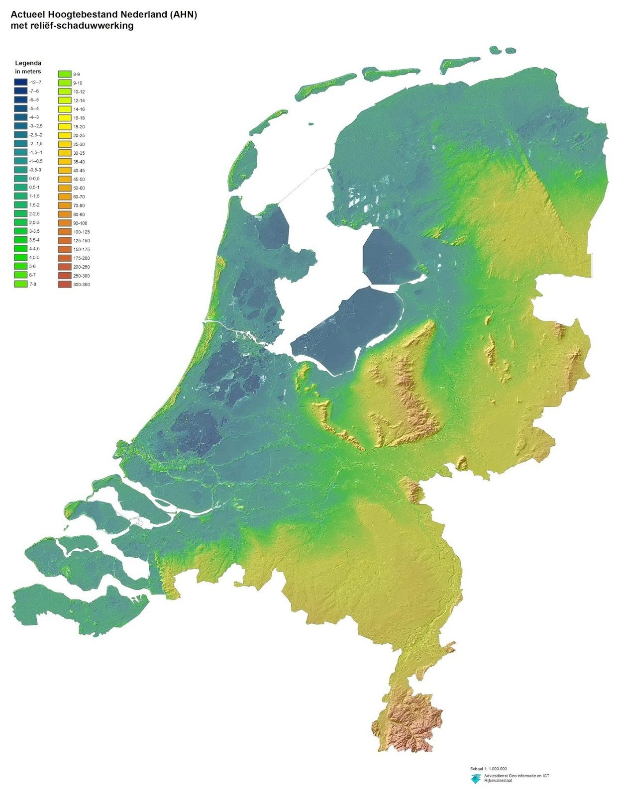 Very detailed relief map of the netherlands gumiabroncs Choice Image