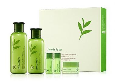 Innisfree Green Tea Balancing Skin Care Set Green Tea Skin Care Skin Care Specials Skin Lotion