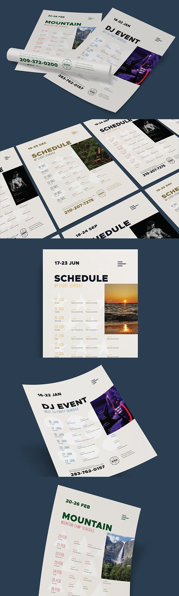 Schedule Event Poster Template Vol Flyer Templates