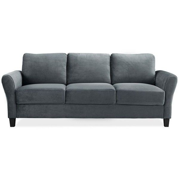 sofa couches sofas crawford microfiber cindy couch sidney gray decorations road home regarding