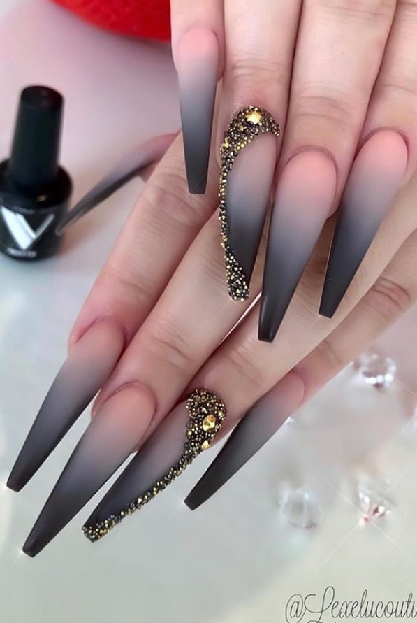 These Amazing Ombre Coffin Nails Design For Summer Nails You Can T Miss Page 23 Of 36 Latest Fashion Trends For Woman Stiletto Nails Designs Black Ombre Nails Casual Nails