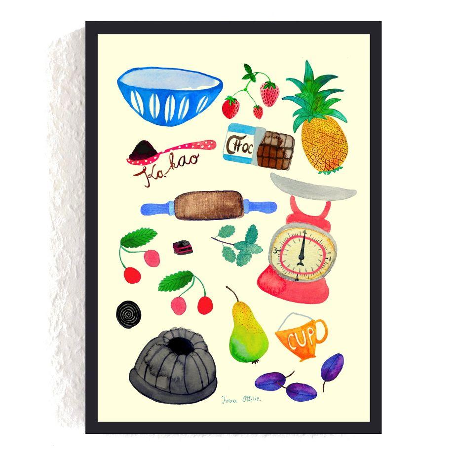 print *backen* #backen #kochen #küche | print mit pflanzen und ... - Würmer Küche
