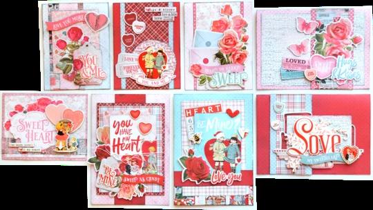 My Valentine S Card Kit Card Kit Valentine Love Cards Card Sketches