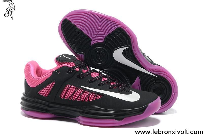 Buy 2013 New 2013 Womens Nike Lunar Hyperdunk Low Black White-Pinkfire Light Your Best Choice