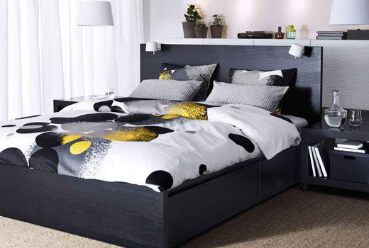 bolltistel housse de couette et 2 taies gris jaune chambre pinterest gris jaune. Black Bedroom Furniture Sets. Home Design Ideas