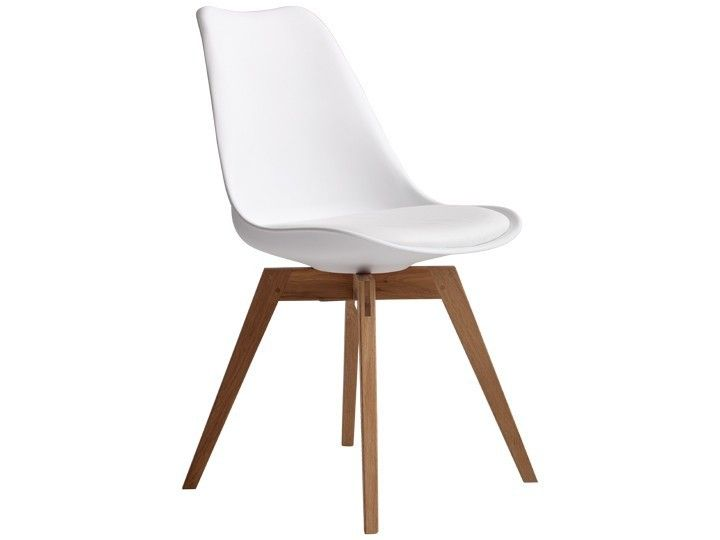 Beautiful BASIL Stuhl Esszimmerstuhl Wartezimmerstuhl Wei u Eiche Ausstellungsst ck
