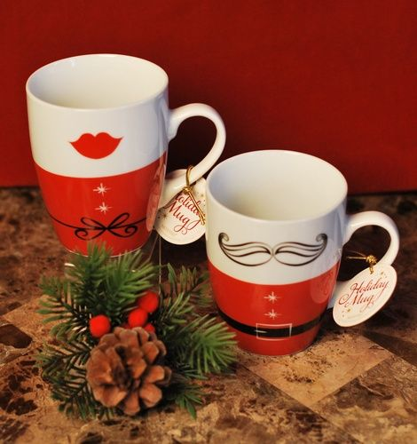 His & Hers Holiday Mugs Signature Collection