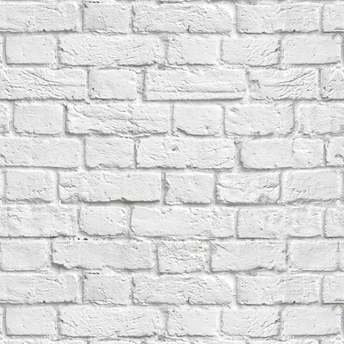 95b247795 Papel de parede tijolo demolição branco