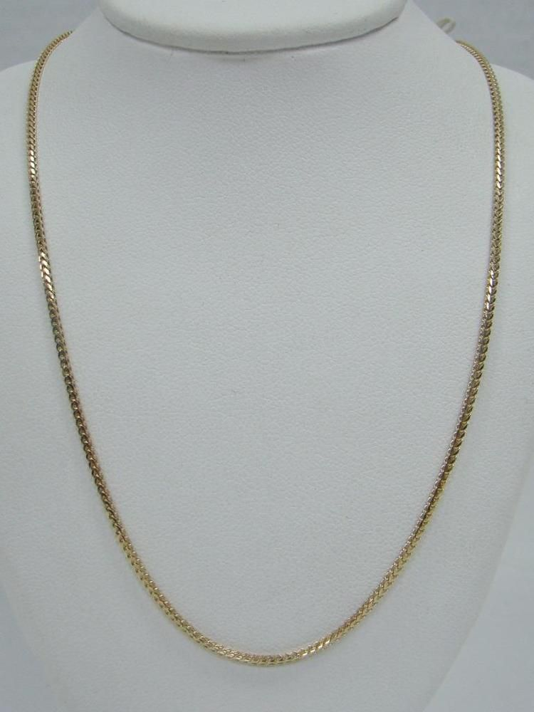 Solid 14k Yellow Gold 20 Foxtail Necklace Chain 1 6mm Aurafin Italy 5 3g Smooth Chains Necklace Necklace Chain