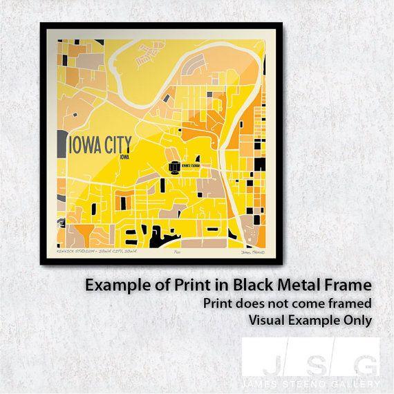 Iowa City Map Iowa City Art Iowa City Print Iowa City Ia Art