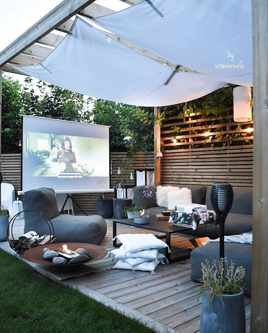 Cecelia On Instagram Movies Under The Stars Tag A Friend Credit Interiorwife Backyard Backyard Design Backyard Inspiration