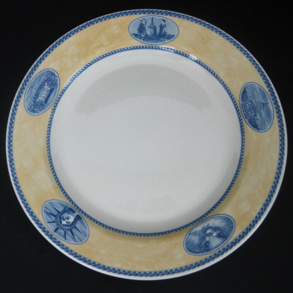 Millennium Collection By Churchill Dinner Plate 10 Inch Americana England Disc Churchill Colonial Dinner Plates Blue Dinner Plates Plates