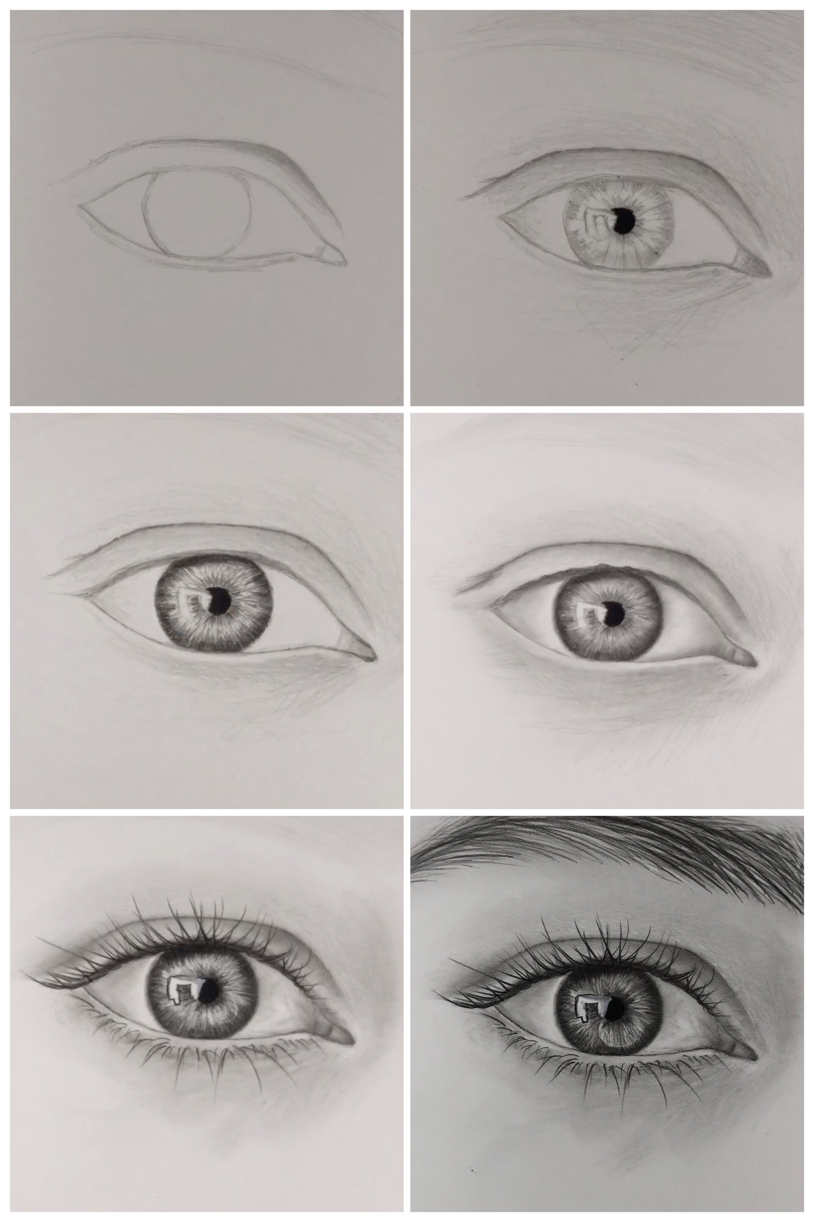 How To Draw Realistic Eye Step By Step Youtube Realistic Drawings Eye Drawing Tutorials Art Drawings Sketches