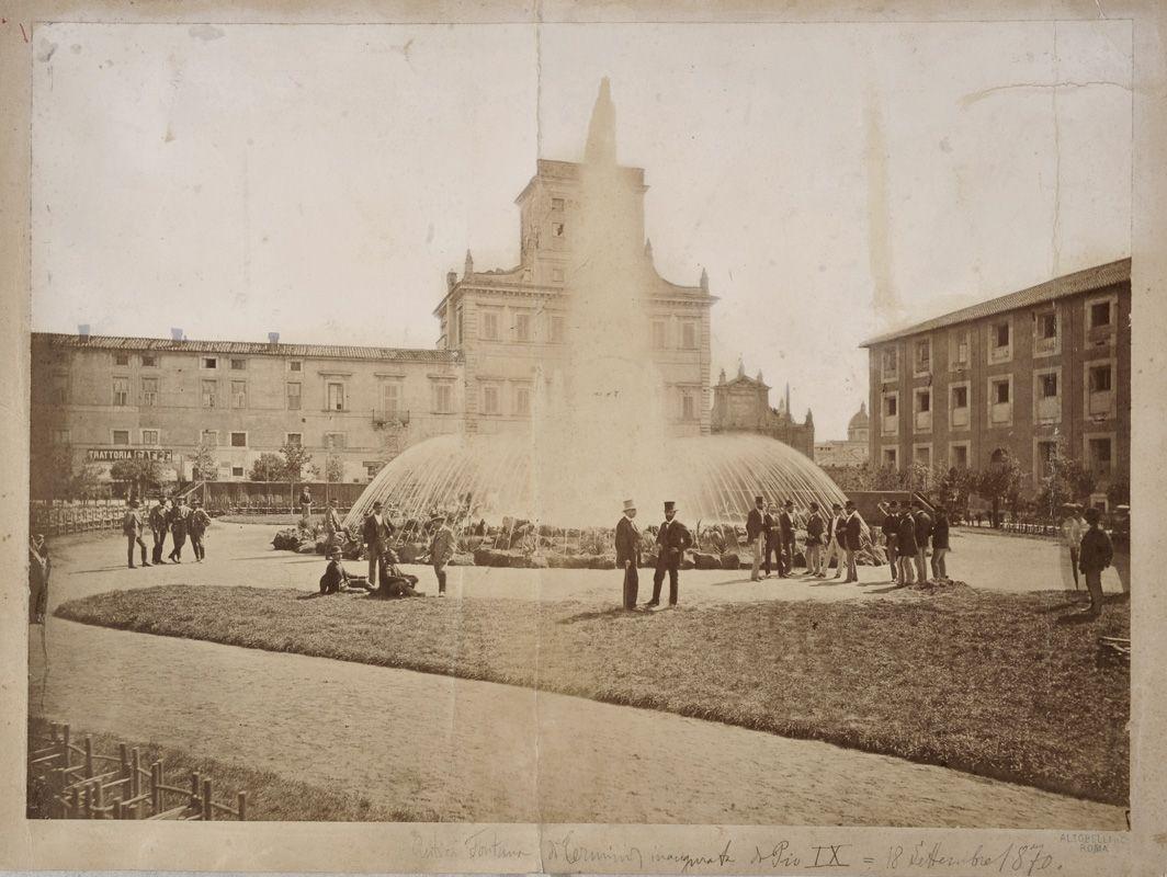 La fontana di Termini dopo l'inaugurazione del 18 settembre 1870