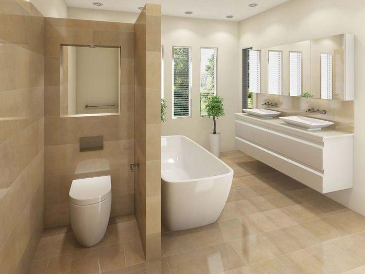 Einrichtungsideen Badezimmer Die Wandtoilette mit verstecktem Spülkasten ist Jeffrey (von William Douglas). – Badezimmer – Badezimmer ideen