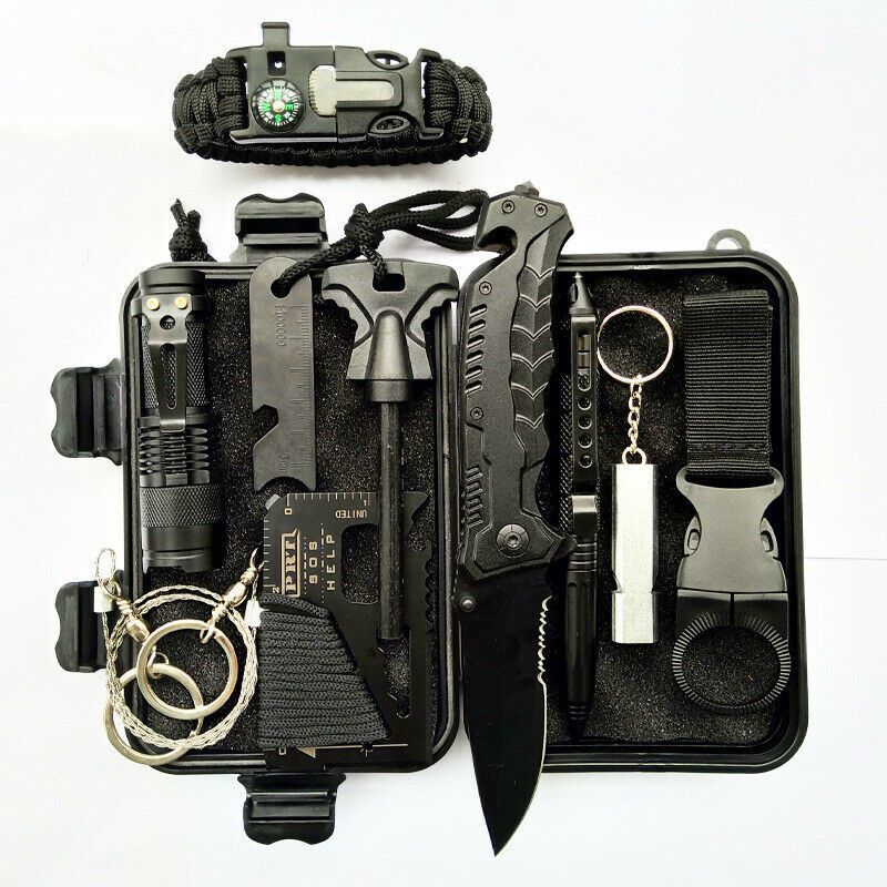 Outdoor Emergency Survival Kit First Aid Set Rescue Set Hiking Camping SOS UK//