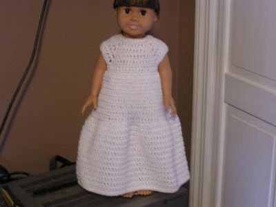 Bella Bambina Knits Wedding Dress For American Girl Dolls Crochet