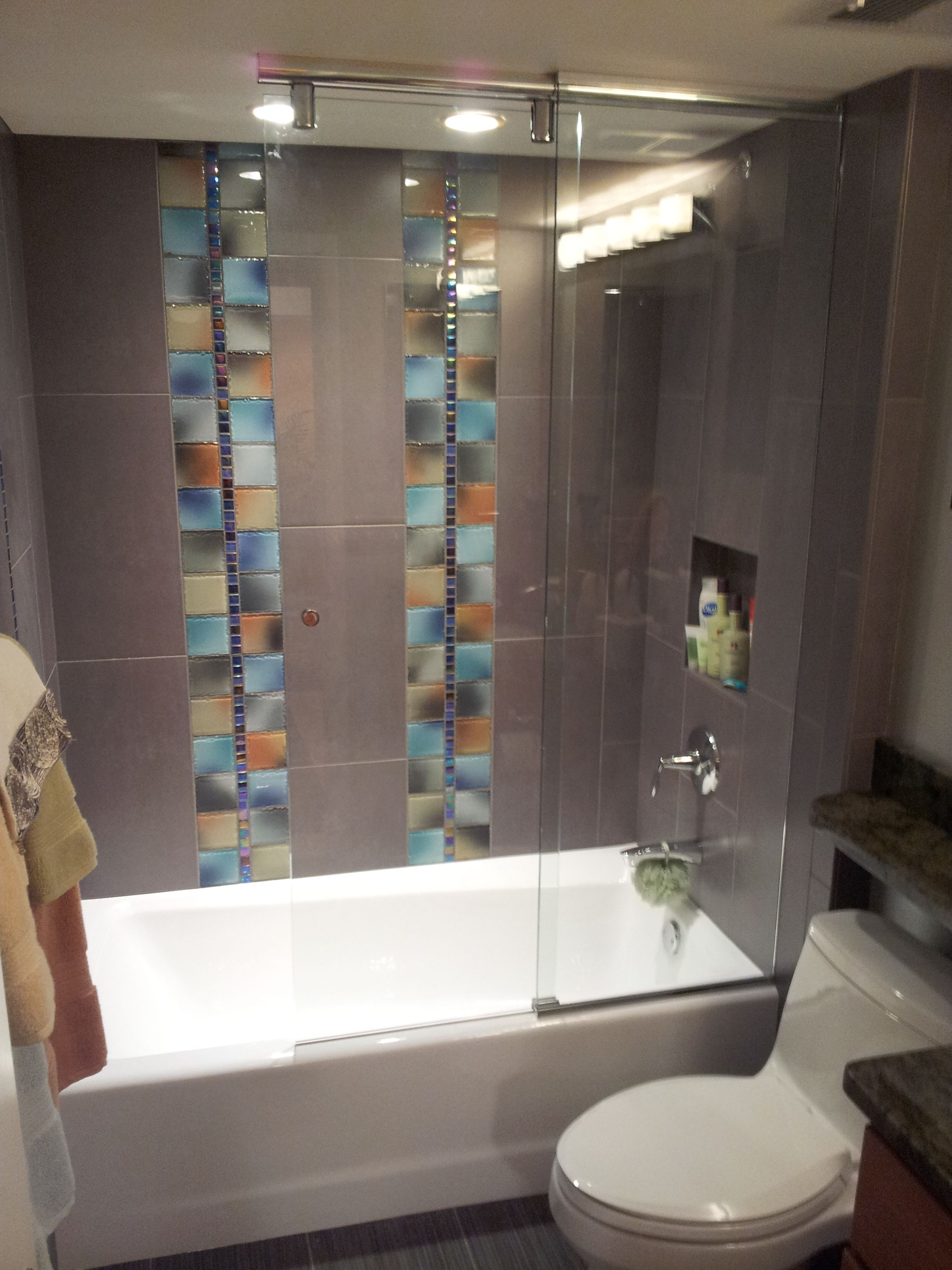 Frameless Sliding Splash Guard Frameless Shower Enclosures Shower Doors Bathrooms Remodel