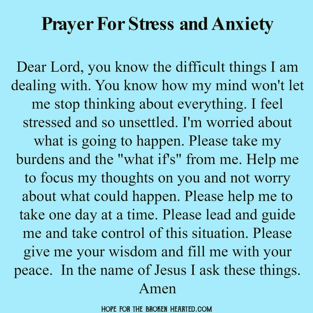 Prayer for stressful times catholic