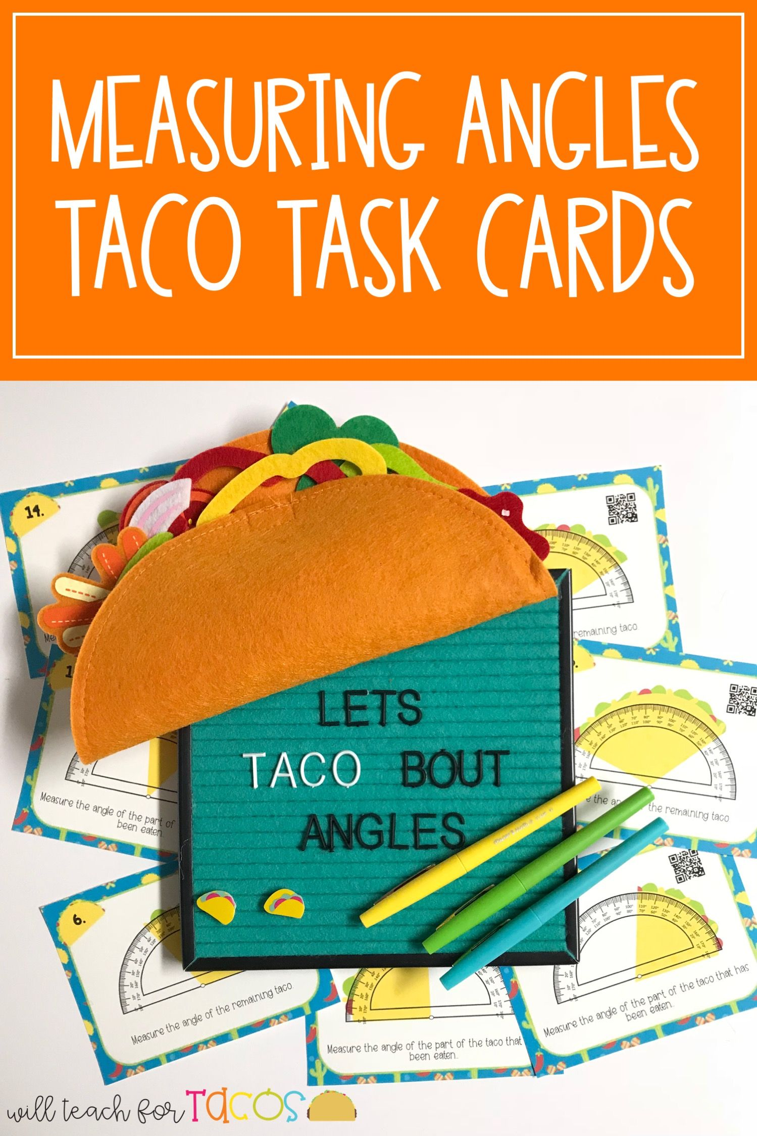 Let S Taco Bout Angles Measuring Angles Task Cards 4 7c