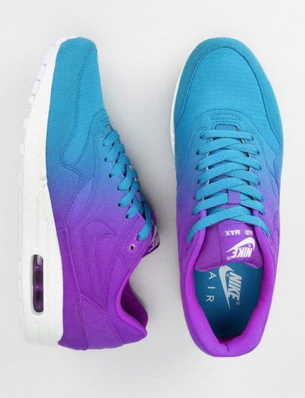 buy popular f2bd9 c7134 Shoes nike air max ombre tie dye tumblr nike air max lace up swoosh blue  purple turquoise