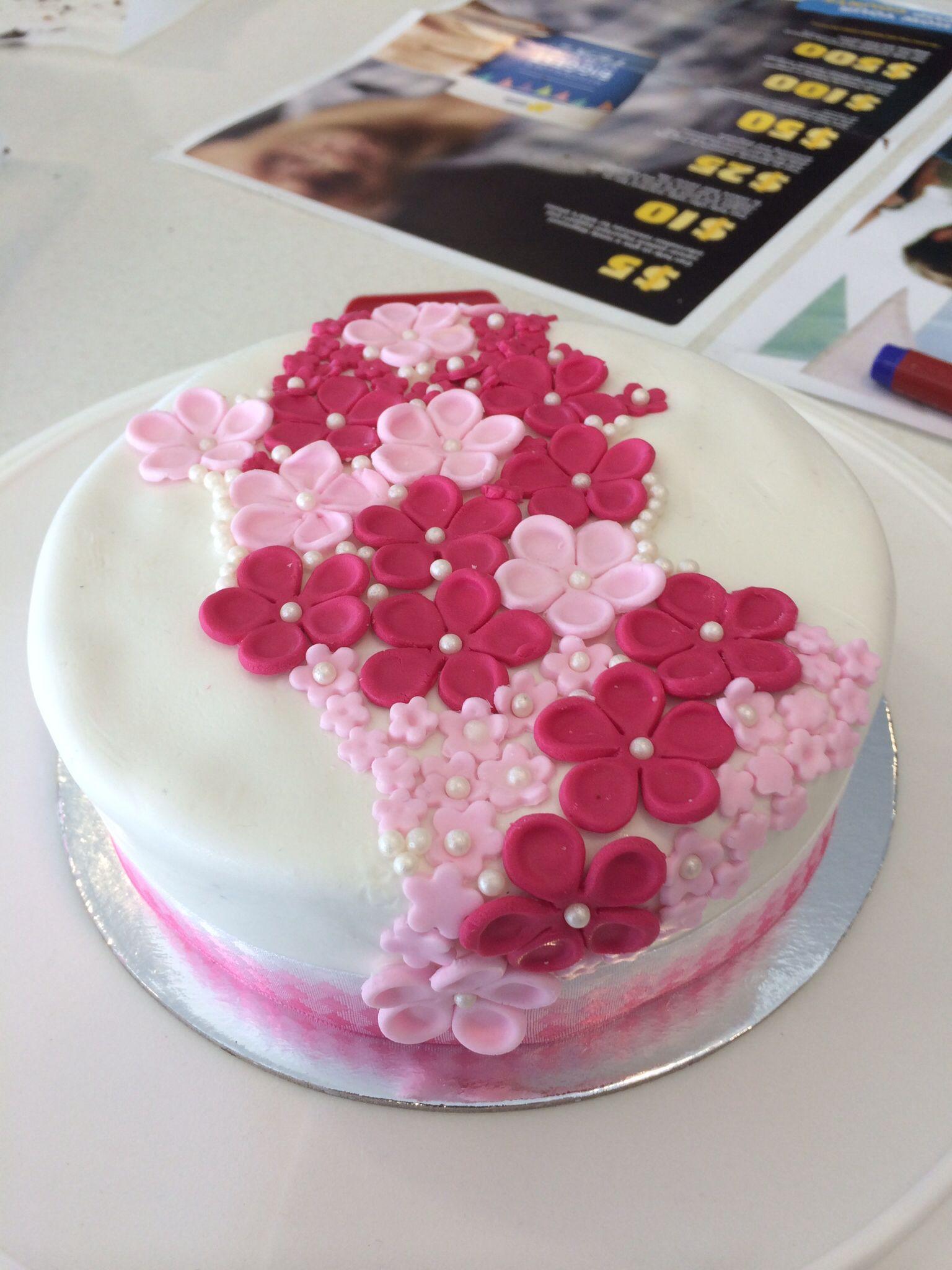 Pink Flower Cake In 2018 Pinterest Cake
