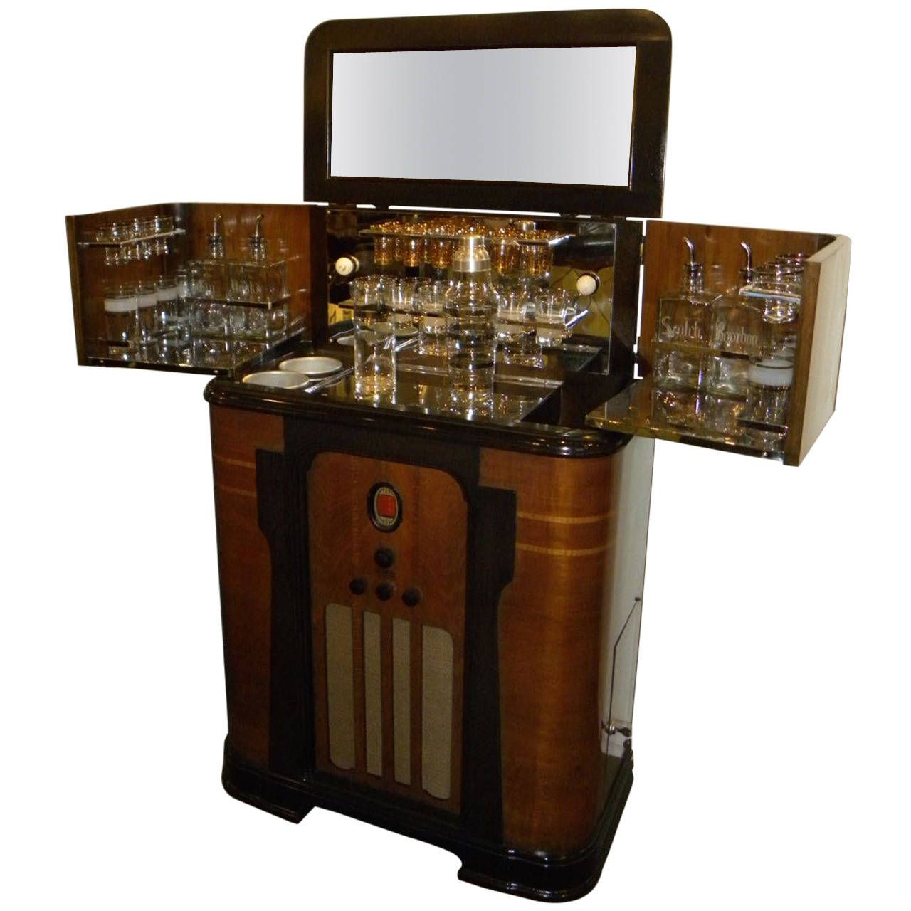 dry bar furniture. Art Deco Philco Radio Bar, 1936 | From A Unique Collection Of Antique And Modern Dry Bars At Https://www.1stdibs.com/furniture/storage-case-pieces/dry -bars/ Bar Furniture E
