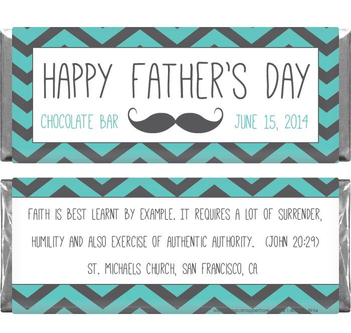 Father's Day Chevron Zig Zag With Mustache Candy