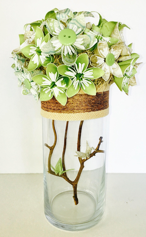 Centerpiece wedding centerpiece paper flowers origami