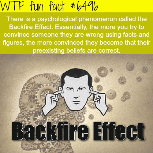 The backfire Effect - WTF fun facts