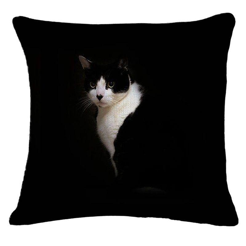 Cute Kitty Throw Pillow Cover (Various Designs)