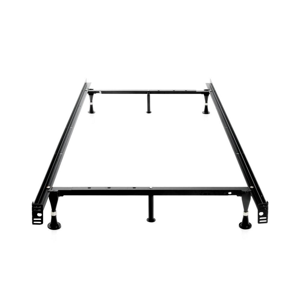Structures Adjustable Metal Bed Frame Black Steel Bed Frame