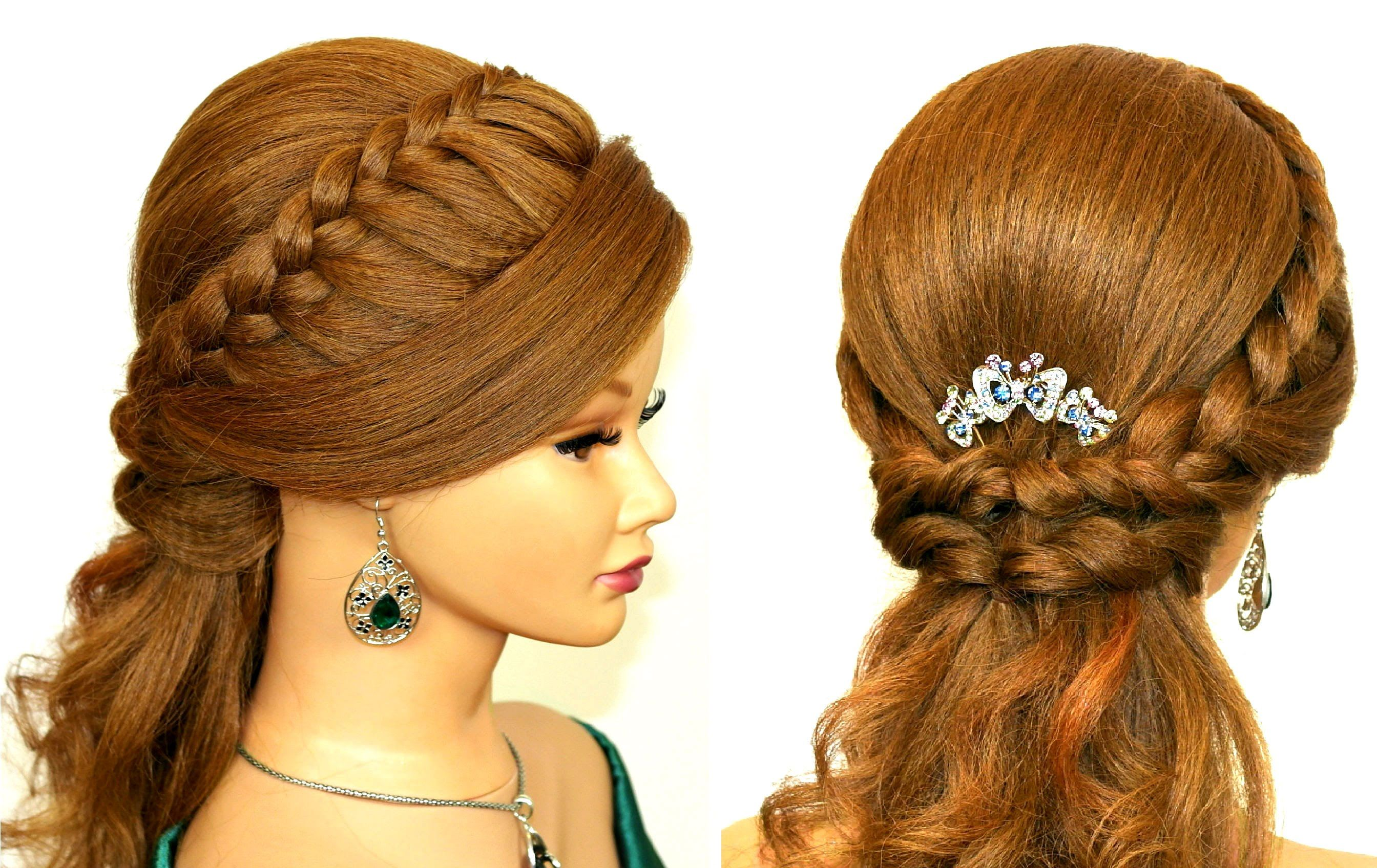 Easy prom hairstyles for medium long hair Romantic bridal hair