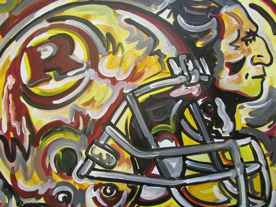 Abstract Redskins Art Football Artwork Washington Redskins