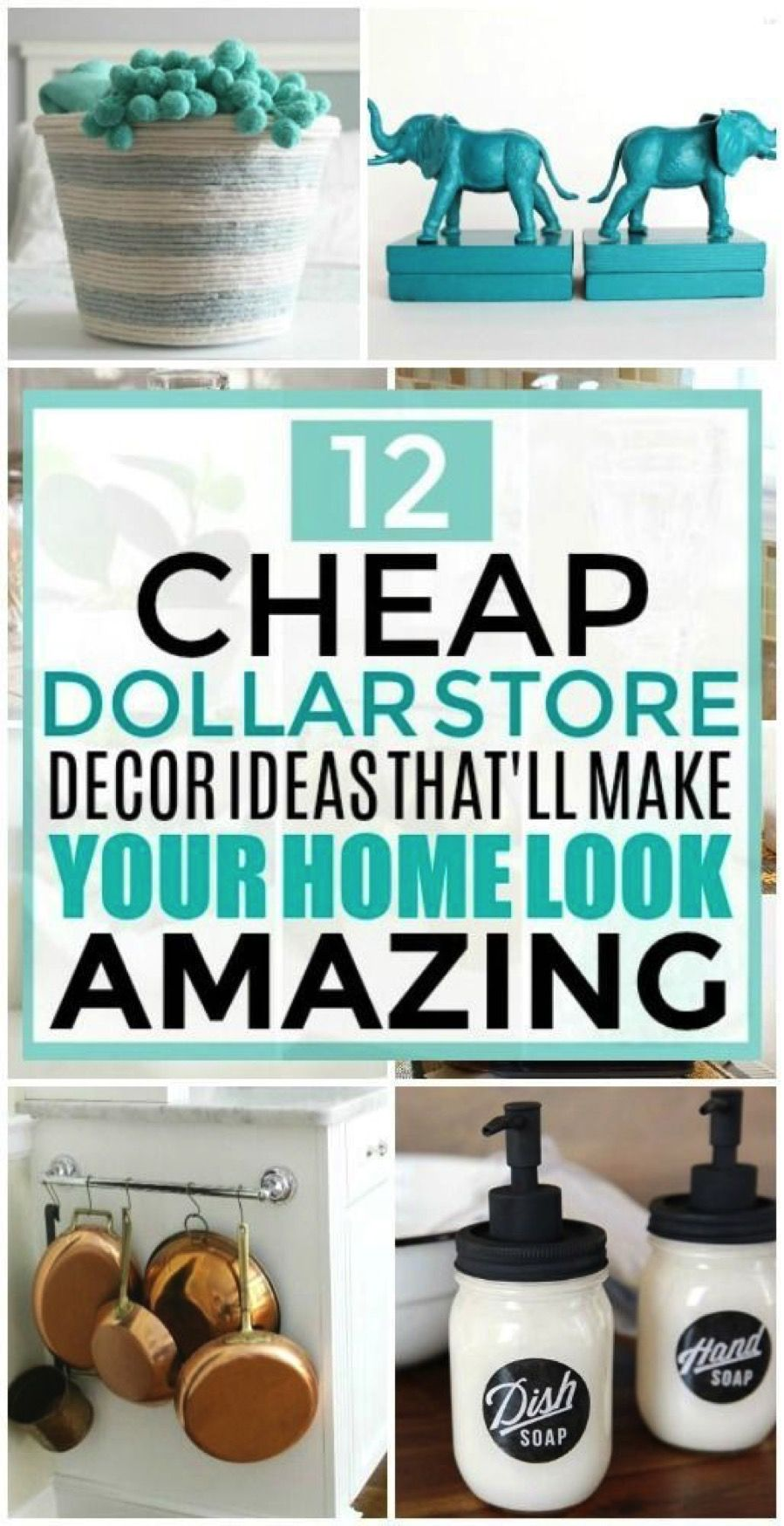 12 Cheap and Easy Dollar Store Decor Hacks That'll Make Your Home Look Amazing
