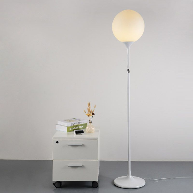 Globe glass shade single light floor standing lamp reading light globe glass shade single light floor standing lamp reading light uplighter white mozeypictures Images