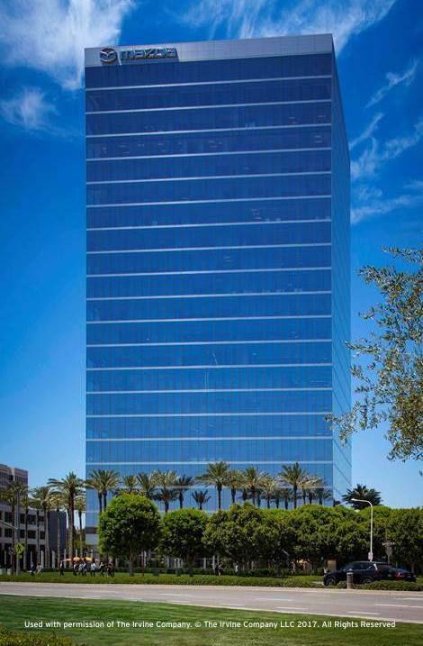 Новото седалище на Мазда е официално отворено Mazdamakingmoves Mazdahq Irvine Skyscraper Blinds Building