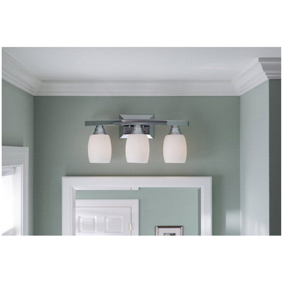 Digital Art Gallery Shop allen roth Chrome Standard Bathroom Vanity Light at Lowe us Canada Find our selection of bathroom vanity lighting at the lowest price guaranteed with
