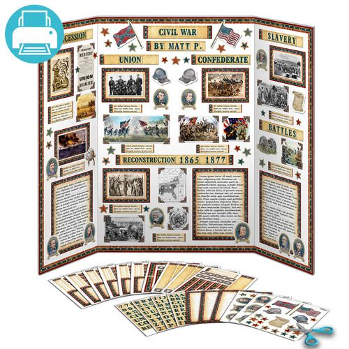 Ancient Egypt Project Kit Tri fold poster, Writing paper and School