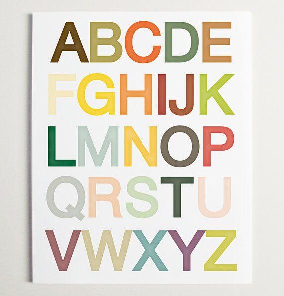 Alphabet Nursery Wall Art Print By Modernpop