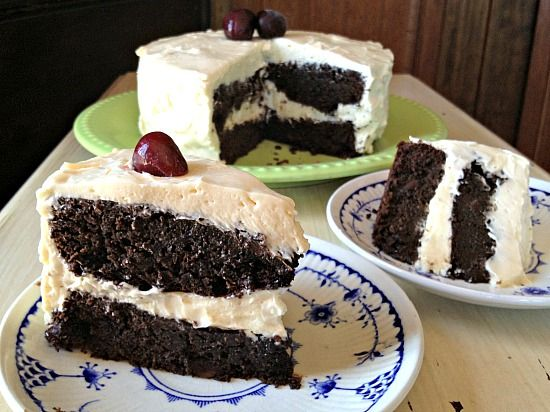 Chocolate Cherry Cake...Terrific, Easy Recipe! GRAIN FREE & made with REAL FOODS! CALIFORNIA COUNTRY GAL | REAL FOOD DIARIES