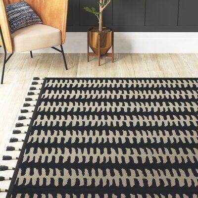 Mercury Row Cripe Handwoven Black Gray Area Rug Products In 2019