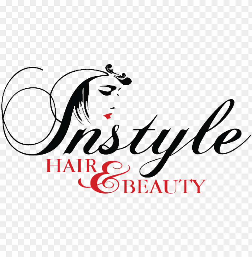Instyle Beauty Salon Hairdresser Beauty Hair Salon Logo Png Image With Transparent Background Png Free Png Images In 2020 Hair Salon Logos Hair And Beauty Salon Instyle Beauty