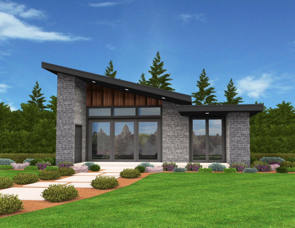 Plan 85137ms exclusive tiny modern house plan with for Small house disign