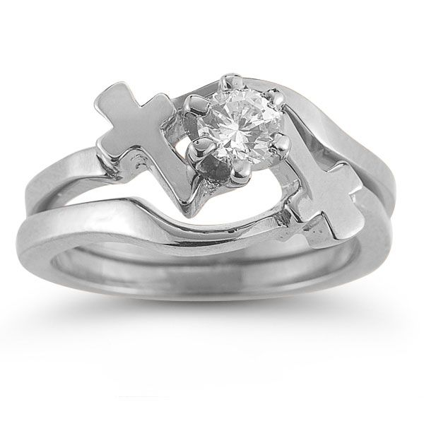 Awesome Christian Engagement Ring Heart And Cross Nice Look