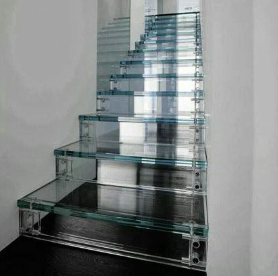 White Bedroom Ideas With Wow Factor: Some Fantastic Glass Staircases Giving Your Home The Real